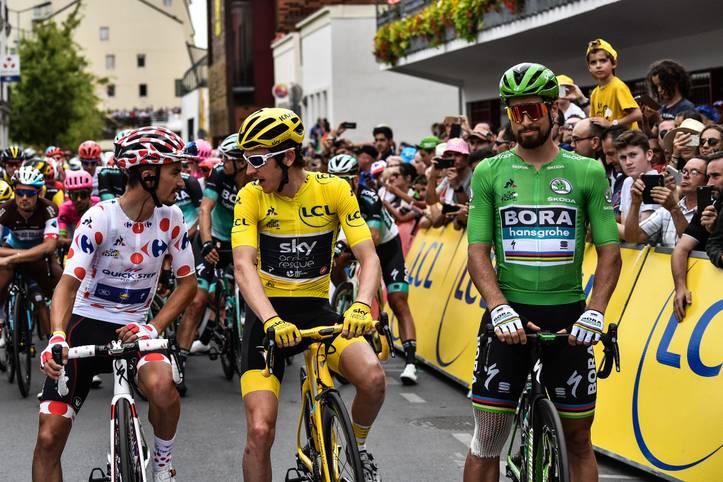 Um sie geht es ab Samstag drei Wochen lang: Das Gepunktete, Gelbe und Grüne Trikot zeichnen den besten Bergfahrer, den Gesamtbesten und den besten Sprinter bei der Tour de France aus