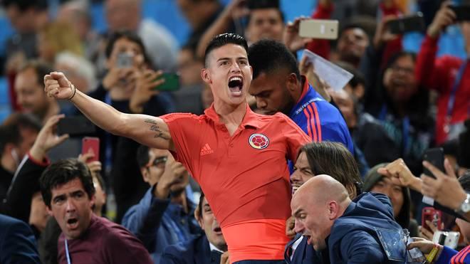 James Rodriguez, WM-Torschützenkönig von 2014, gab auch bei den Titelkämpfen in Russland eine gute Figur ab