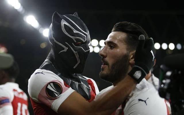 Im März 2019 feierte Pierre-Emerick Aubameyang einen Treffer als Black Panther