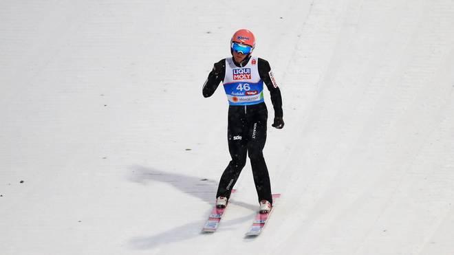 FIS Nordic World Ski Championships - Men's HS109 Dawid Kubacki springt im zweiten Durchgang allen davon und holt nach Rang 17 nach Sprung eins noch Gold