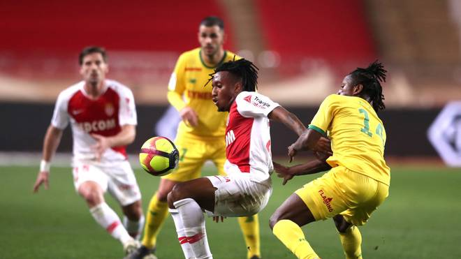 Gelson Martins (M.) wird in dieser Saison nicht mehr für Monaco am Ball sein