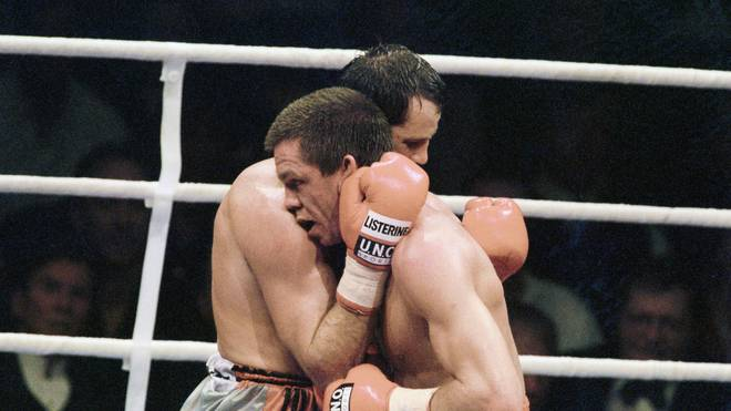 Henry Maske und Graciano Rocchigiani bei ihrem WM-Kampf 1995 in München