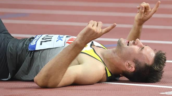 Niklas Kaul beim Zehnkampf bei der Leichtathletik-WM