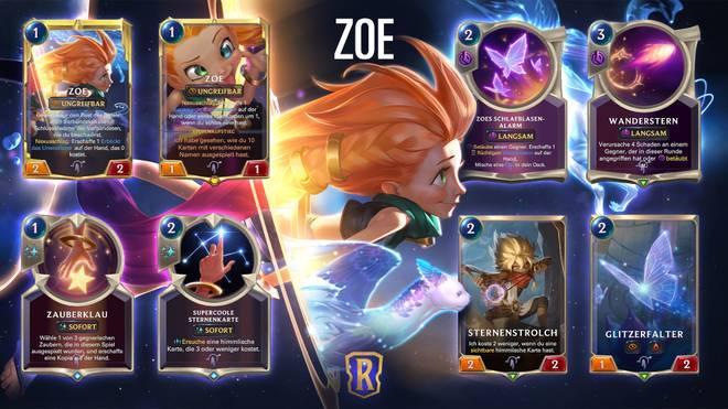 Zoe wird der insgesamt 47. Champion in Legends of Runeterra werden