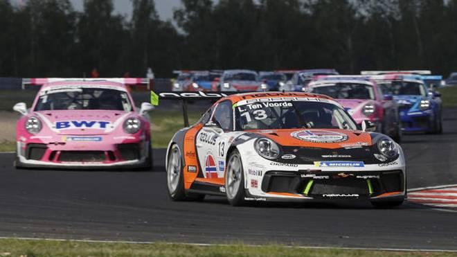 Larry ten Voorde (r.) geht als Führender in die Rennen am Norisring
