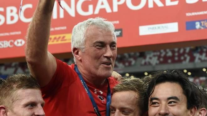 Damian McGrath (m.) wird neuer Nationaltrainer im 7er Rugby