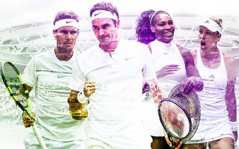 """Endlich wird wieder aufgeschlagen auf dem """"heiligen Rasen"""". In Wimbledon steigt das einzige Grand-Slam-Turnier auf Rasen. SPORT1 stellt die Top-Favoriten bei Damen und Herren vor"""