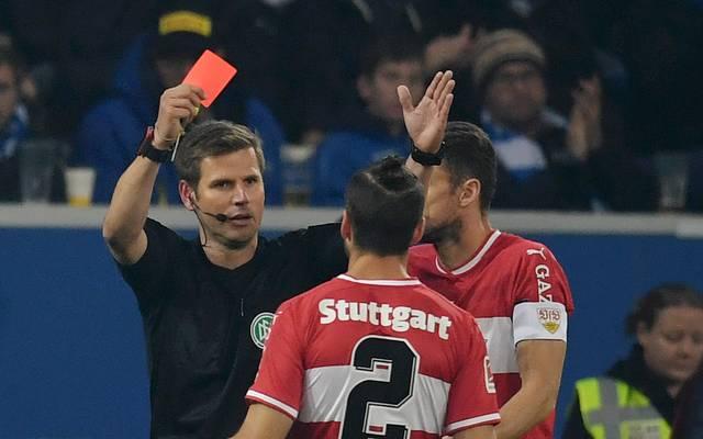 Emiliano Insua sah in Hoffenheim die Rote Karte