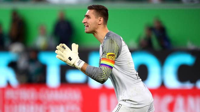Koen Casteels vom VfL Wolfsburg plagt sich mit einer Muskelverletzung herum