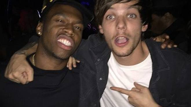 "Daniel Sturridge feiert mit ""One Direction""-Star Louis Tomlinson in einem Londoner Club."