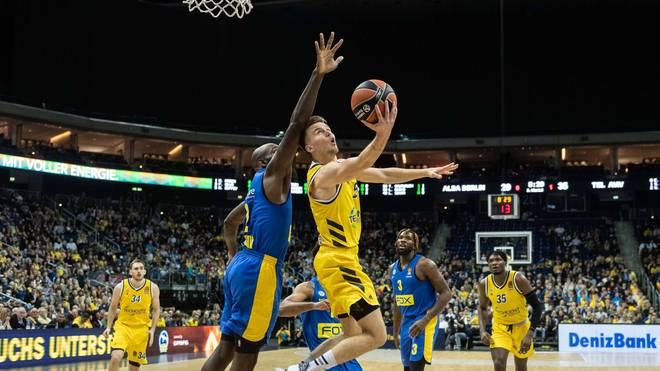ALBA Berlin kann gegen Maccabi Tel Aviv in der Euroleague nicht bestehen
