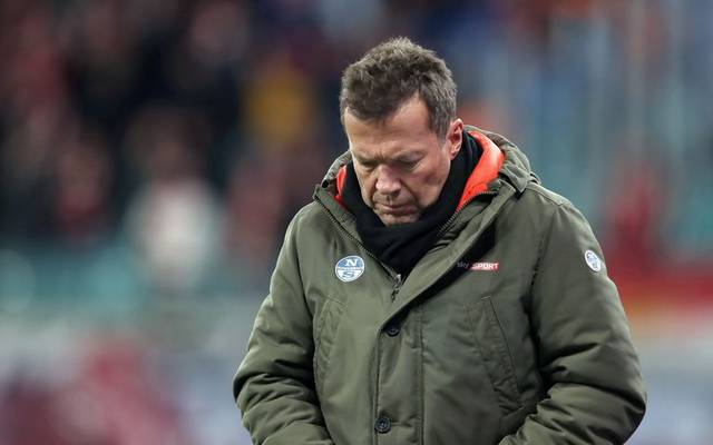 Former football player and TV expert Lothar Matthaeus looks down during the German first division Bundesliga football match RB Leipzig v FC Union Berlin in Leipzig, on January 18, 2020. (Photo by Ronny Hartmann / AFP) (Photo by RONNY HARTMANN/AFP via Getty Images)