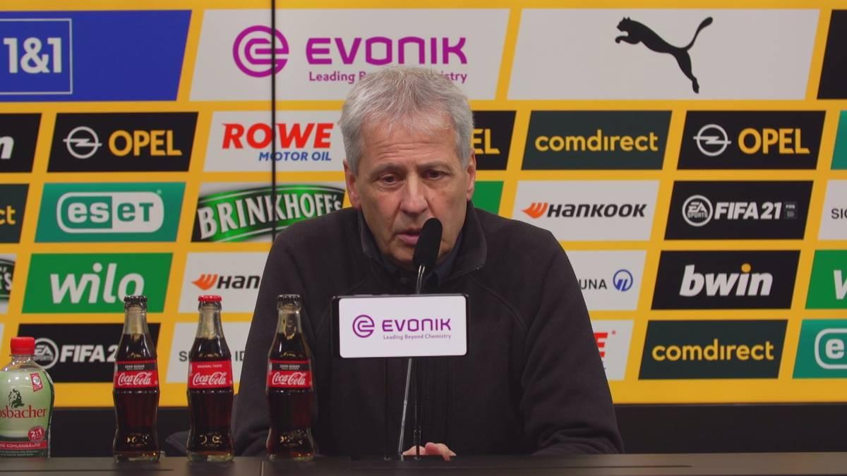 Youssoufa Moukoko spielte auch gegen den VfB Stuttgart nicht von Beginn an. Lucien Favre erklärt warum und stellt sich schützend vor seinen Youngster.