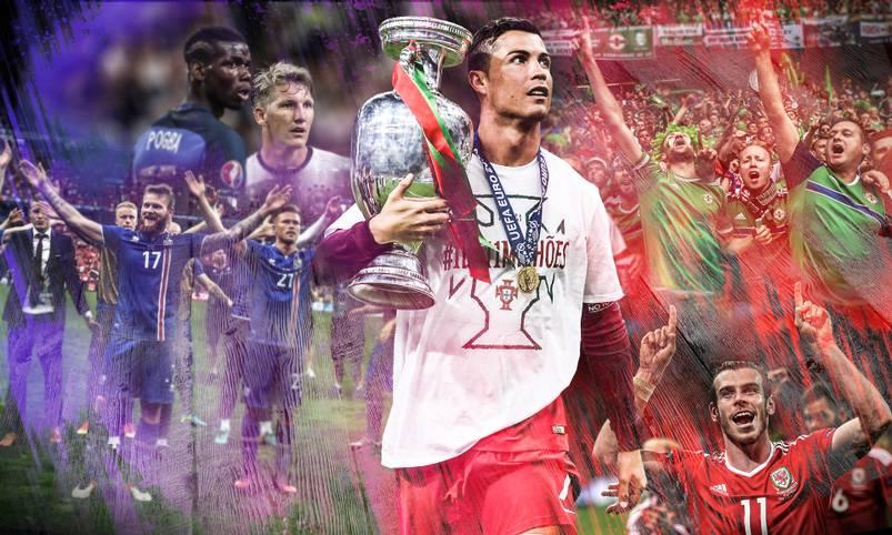 Das Ende des Italien-Fluchs, klatschende Wikinger, Gewalt auf den Rängen und Cristiano Ronaldo am Ziel. Die EM 2016 hatte viel zu bieten. SPORT1 blickt auf das Turnier zurück.