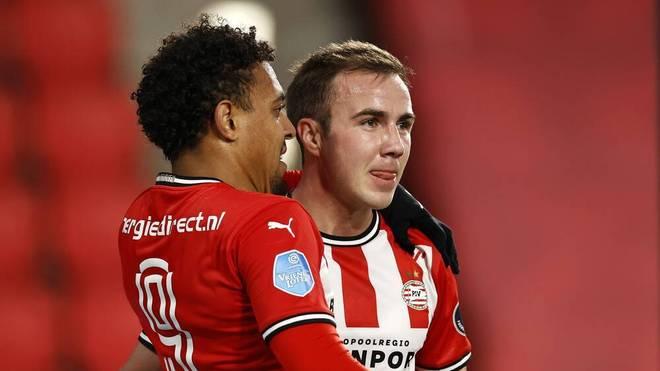 Mario Götze verzeichnet gegen Waalwijk seinen siebte Torbeteiligung der Saison