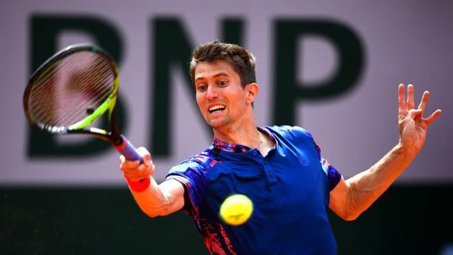 Yannick Maden steht beim ATP-Turnier in Metz im Achtelfinale