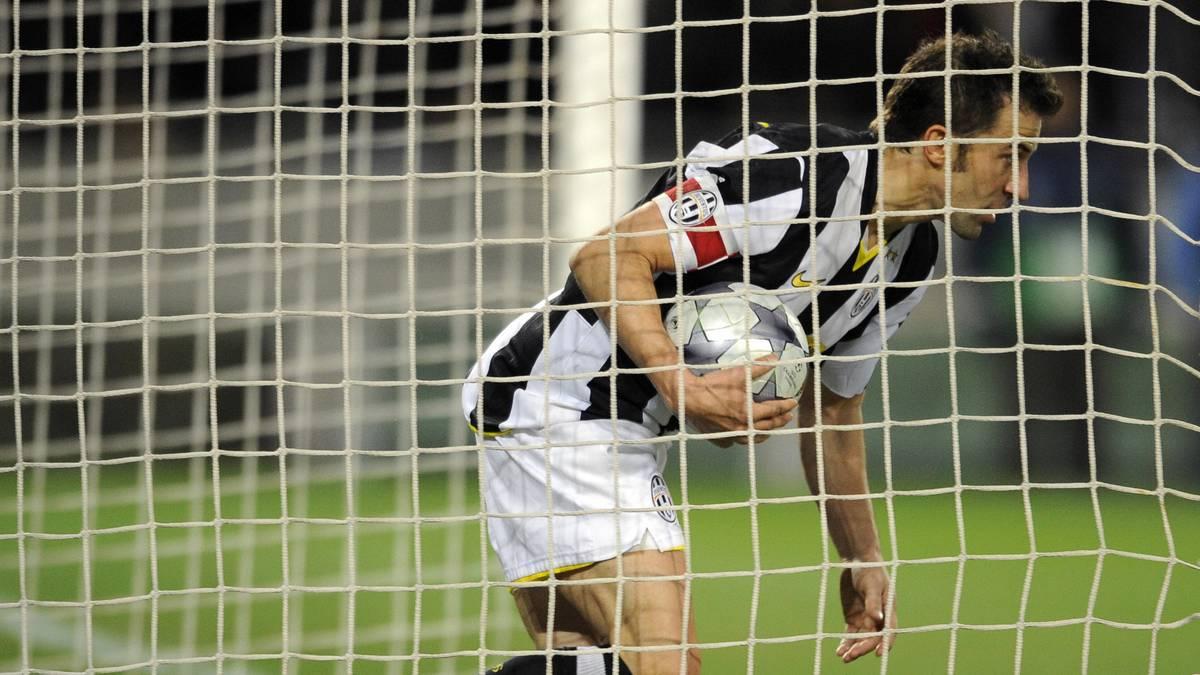 Alessandro del Piero bei einem Tor für Juventus