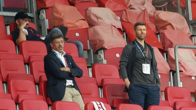 VfB-Präsident Claus Vogt (l.) und Thomas Hitzlsperger (r.) kommunizieren derzeit hauptsächlich über die Öffentlichkeit