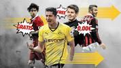 SPORT1 zeigt die Top30 der Nulltarif-Transfers, die bei ihrem Wechsel bereits einen Mega-Marktwert aufwiesen (Quelle: transfermarkt.de) - und nicht selten war daran auch der FC Schalke beteiligt. Ein deutscher Ex-Nationalspieler schafft es sogar zweimal in das Ranking.
