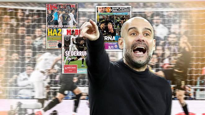 Pep Guardiola gewann mit Manchester City gegen Real Madrid