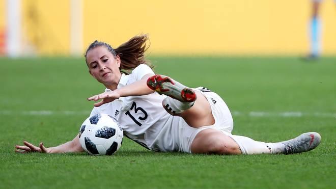 Nationalspielerin Sara Däbritz spielt auf Vereinsebene für den FC Bayern München
