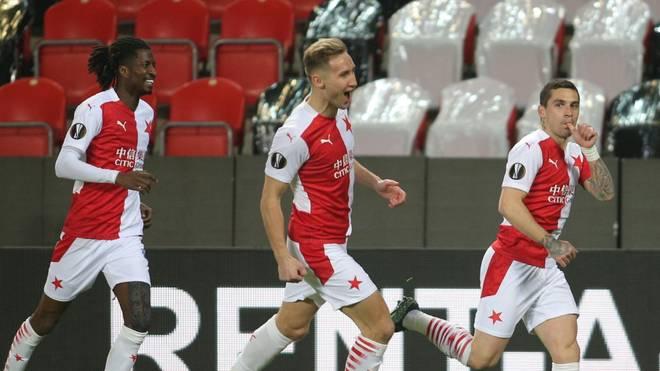 Slavia Prags spieler dürfen erneut jubeln