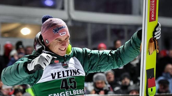 Karl Geiger zählt bei der Vierschanzentournee in diesem Jahr zu den Mitfavoriten