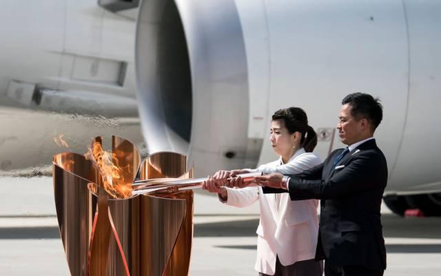 Das Olympische Feuer ist in Japan angekommen