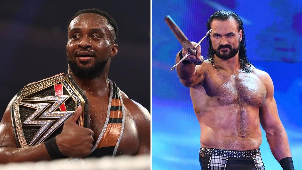 Drew McIntyre (r.) forderte am Ende von WWE RAW Big E