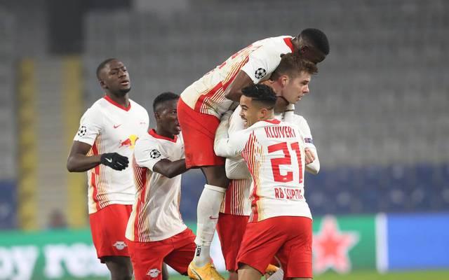 Alexander Sörloth erzielte endlich sein erstes Tor für RB Leipzig