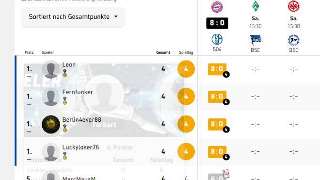 Vier Tipper liegen bei der Bayern-Gala richtig
