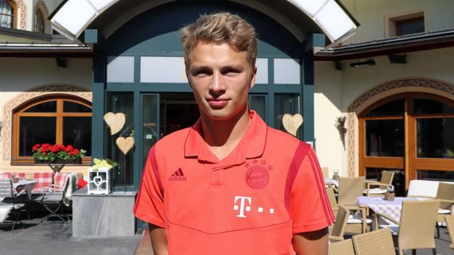 Jann-Fiete Arp im Trainingslager des FC Bayern II