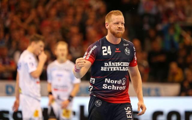 Jim Gottfridsson und die SG Flensburg-Handewitt kämpfen in der HCL für eine gute Platzierung