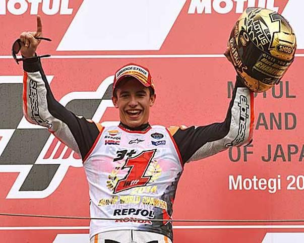 Campeon! Er hat es schon wieder getan: Marc Marquez gewinnt in seinem zweiten Jahr in der MotoGP seinen zweiten WM-Titel. SPORT1 hat die Bilder seiner Karriere