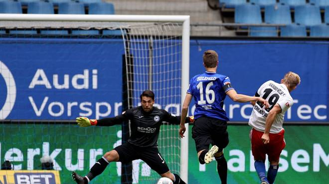 Joel Pohjanpalo vergab einige gute Chancen für den HSV