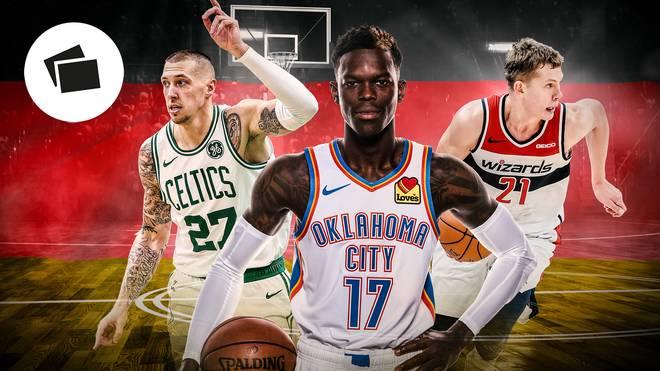Daniel Theis, Dennis Schröder und Moritz Wagner (v.l.n.r.) sind drei der deutschen NBA-Hoffnungen
