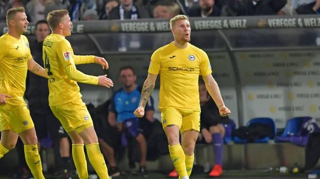 Andreas Voglsammer erzielte im Derby gegen Osnabrück den Siegtreffer für Arminia Bielefeld