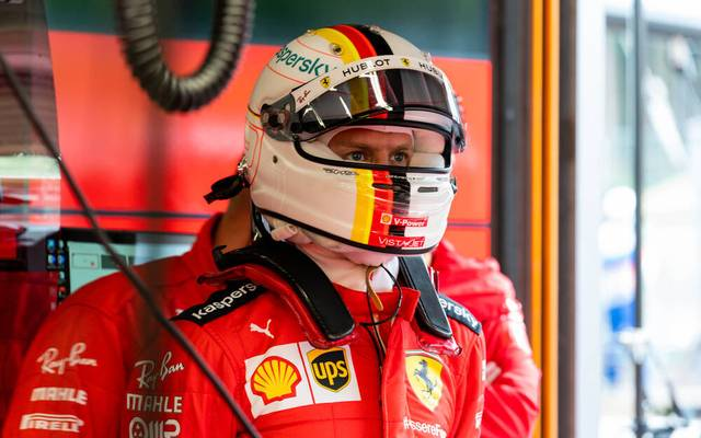 Sebastian Vettel startet nur von Platz 14 aus in den Belgien-GP