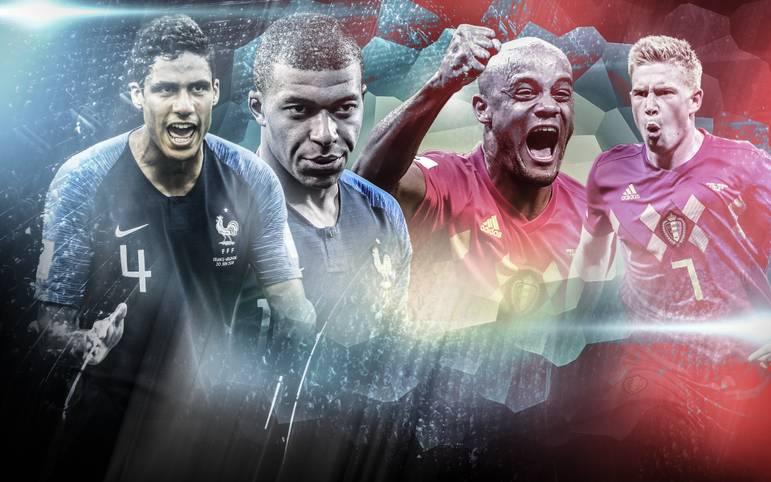Frankreich und Belgien spielen ab 20 Uhr (im LIVETICKER) um den Einzug ins WM-Endspiel. Wer entscheidet dieses Halbfinale für sich? SPORT1 vergleicht die beiden Teams im Head-to-Head