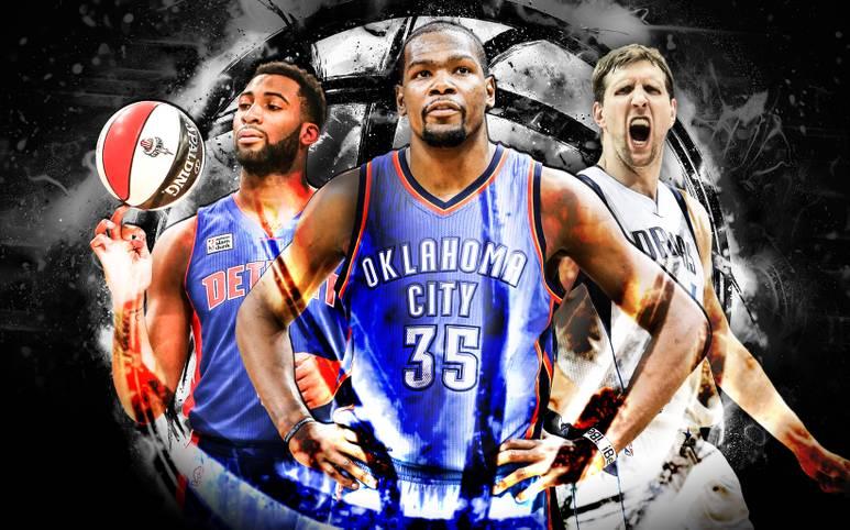 Die NBA-Saison 2015/16 ist Geschichte. Doch die Teams richten ihre Blicke bereits auf die nächste Spielzeit. Nach dem Draft blicken alle Augen gespannt auf die diesjährige Free Agency. Im Fokus steht vor allem das Rennen um Kevin Durant (M.). SPORT1 zeigt die begehrtesten Spieler des Sommers