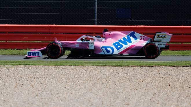 Nico Hülkenberg bei seinen ersten Runden im Racing Point