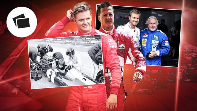 Mick Schumacher (l.) tritt in die Fußstapfen seines Vaters