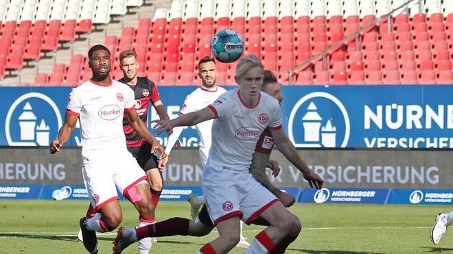 Fortuna Düsseldorf spielte gegen Nürnberg nur Unentschieden