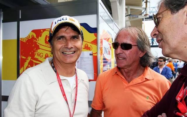 Nelson Piquet (l.) ist dreimaliger Formel-1-Weltmeister