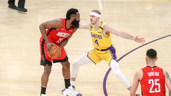 James Harden (l.) steht den Houston Rockets wieder zur Verfüfgung