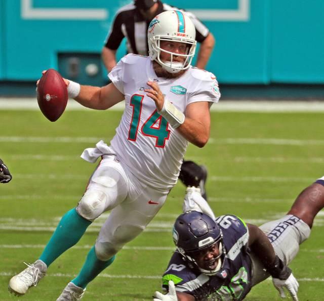 Ryan Fitzpatrick ist Quarterback der Miami Dolphins