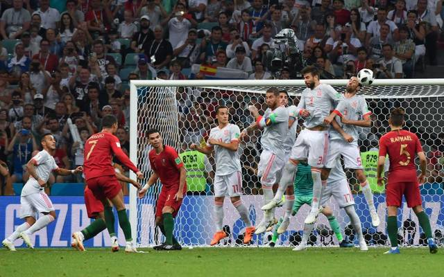 Portugal und Spanien traten auch bei der WM 2018 gegeneinander an