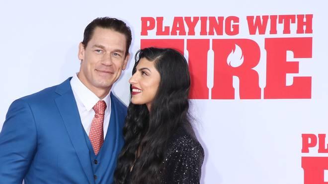 John Cena uns seine neue Frau Shay Shariatzadeh