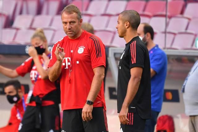 Trainer Hansi Flick plant nach wie vor mit Thiago