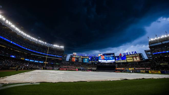 Im Yankee Stadium findet das vierte Halbfinalspiel zwischen den Yankees und den Astros statt